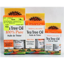 LOT OF HOLISTA  ASSORTED TEA TREE OIL PRODUCTS