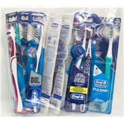 BAG OF ASSORTED ORAL B  TOOTHBRUSHES