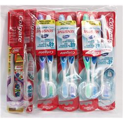 BAG OF COLGATE TOOTHBRUSHES