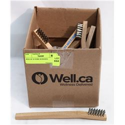 BOX OF 20 WIRE BRUSHES