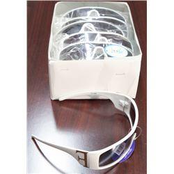 BOX OF NEW WHITE UV400 SUNGLASSES