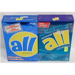 TWO BOXES OF ALL DISHWASHER DETERGENT