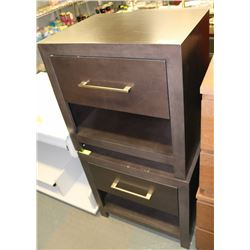 PAIR OF WOOD SHOWHOME NIGHT STANDS