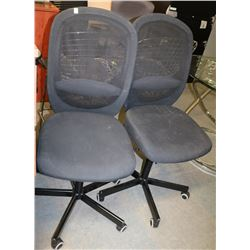 PAIR OF MESH BACK OFFICE CHAIRS