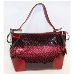 RED PRINCESS FLORENCE SNAKE SKIN STYLE PURSE