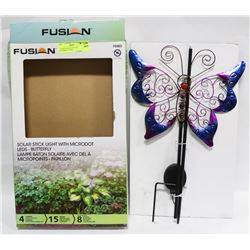 FUSION SOLAR STICK LED BUTTERFLY LIGHT