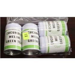BAG WITH 4 TINS OF CUCUMBER MELON TEAS
