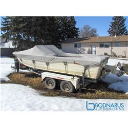 1974 Starcraft Aluminum Boat with 140HP Inboard and Trailer - Serial: 600264