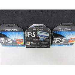 Men's 5 Blade Razor Cartridges with Lube strip Force F:5 / 4 per Pack