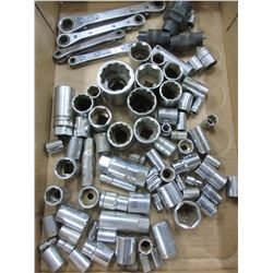 Flat full of Assorted Sockets / up to 1- 5/8
