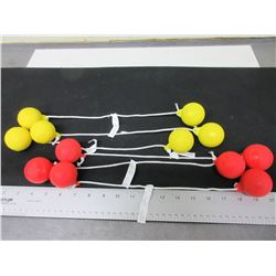 New set of Balls for LadderBall / 3 yellow 3 red