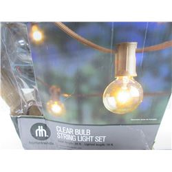New Clear Bulb String Light Set / 20ft / tested working