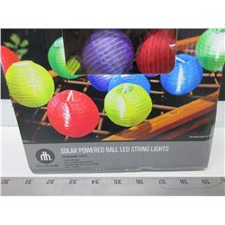 New Solar Power Ball LED String Lights / 10 lights dual function