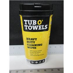 Tub O' Towels Heavy Duty Cleaning Wipes / industrial strength formula