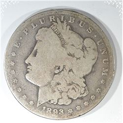 1893-CC MORGAN DOLLAR, VG/FINE