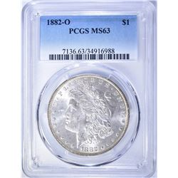 1882-O MORGAN DOLLAR, PCGS MS-63