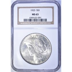 1923 PEACE DOLLAR, NGC MS-63
