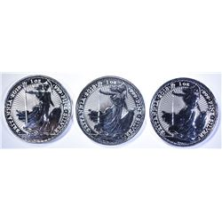 3-2018 1oz SILVER BRITISH BRITANNIA COINS