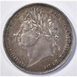 1824 GREAT BRITAIN 1 SHILLING XF