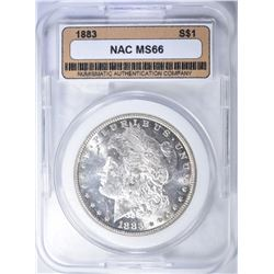 1883 MORGAN DOLLAR  NAC SUPERB GEM