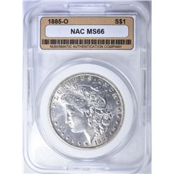 1885-O MORGAN DOLLAR  NAC SUPERB GEM