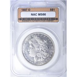 1887-O MORGAN DOLLAR  NAC SUPERB GEM