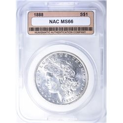 1888 MORGAN DOLLAR  NAC SUPERB GEM