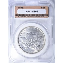 1898 MORGAN DOLLAR  NAC SUPERB GEM