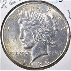 1926-S PEACE DOLLAR  BU CLEANED