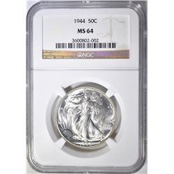 1944 WALKING LIBERTY HALF DOLLAR  NGC MS-64