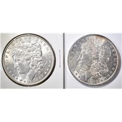 1879 & 1887 MORGAN DOLLARS   BU