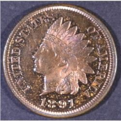 1891 INDIAN CENT GEM PROOF RB