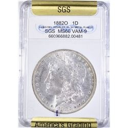 1882-O MORGAN DOLLAR SGS SUPERB GEM BU