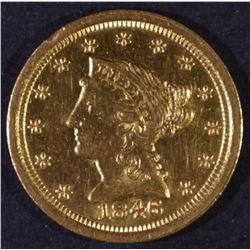 1846-O $2.5 GOLD LIBERTY BU OLD CLEANING