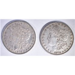 (2) 1879 MORGAN DOLLARS AU