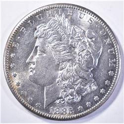 1885-S MORGAN DOLLAR, CH BU SEMI-PL