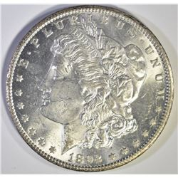 1892-CC MORGAN DOLLAR, CH BU STRONG STRIKE FLASHY!