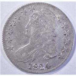 1824 CAPPED BUST HALF DOLLAR  XF