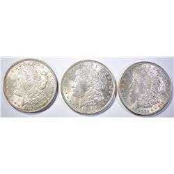 3 1921 MORGAN DOLLARS BU