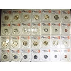2010-P&D 28-COIN SATIN FINISH SET  ANACS-SP69