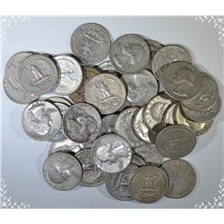 $10.00 FACE VALUE 90% SILVER WASHINGTON QUARTERS