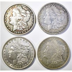 4-CIRC MORGAN DOLLARS