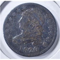 1820 BUST DIME, FINE