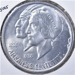 1938 ARKANSAS COMMEM HALF DOLLAR, GEM BU
