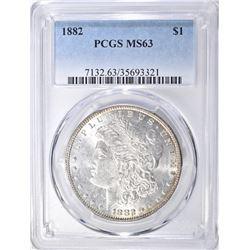 1882 MORGAN DOLLAR  PCGS  MS-63