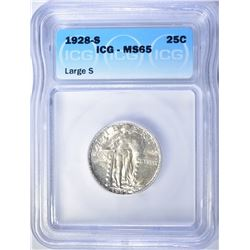 1928-S STANDING LIBERTY QUARTER ICG MS-65