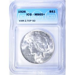 1926 PEACE DOLLAR ICG MS-65+