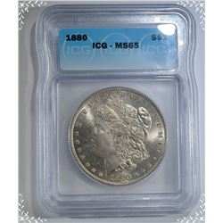 1880 MORGAN DOLLAR  ICG MS-65