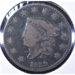 1829 MATRON HEAD LARGE CENT VG