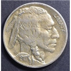 1917-D BUFFALO NICKEL AU
